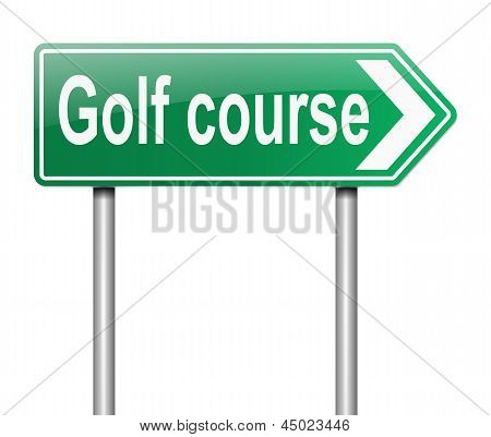 Golf Course Sign.