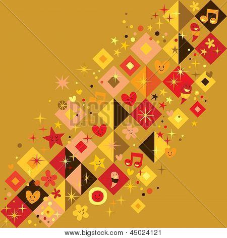 fun squares background