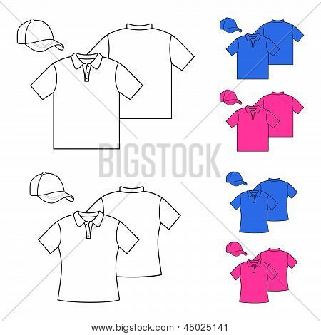 T-shirts for men and women.  T-shirts model polo design.