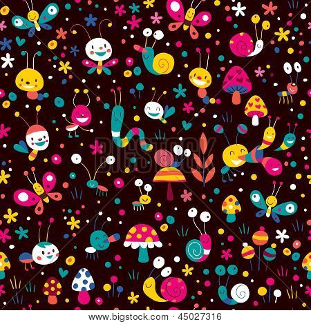 happy meadow pattern