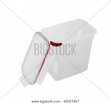 Deep Polypropylene Food Container With Lockable Lid.