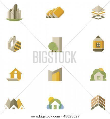Vector real estate icon set