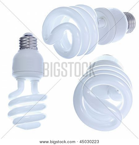 Designer's Set Of Light Bulbs.
