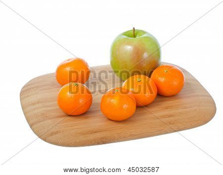 Fruits On Cutting Board.