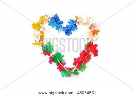 Carnival collar in a heart shape - Love carnival / Mardi grass