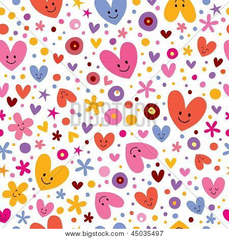 hearts & flowers pattern