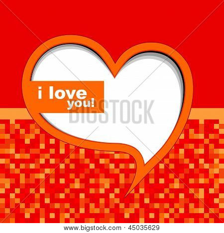 Valentine's card background with heart