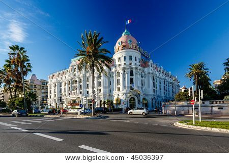 NICE, FRANCE - NOVEMBER 6: Luxury hotel Negresco 6 November, 2012 in Nice