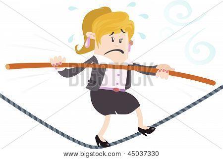 Businesswoman Buddy On A Wire