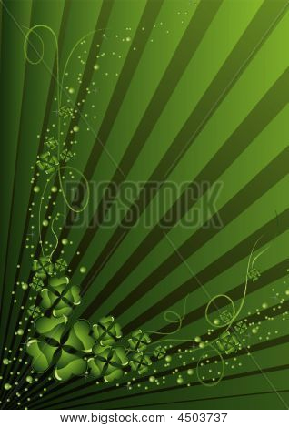 Clovers, St. Patrick's Day Background