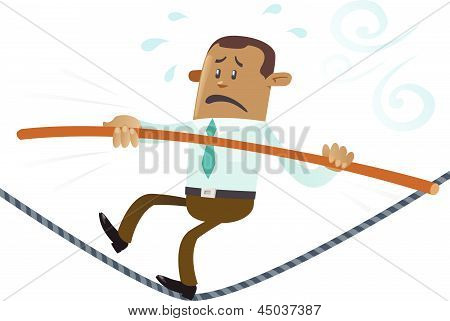 Ethnic Business Buddy On A Wire
