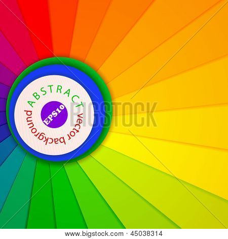 Vector illustration of bright abstract background