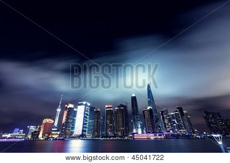cityscape of modern city,shanghai