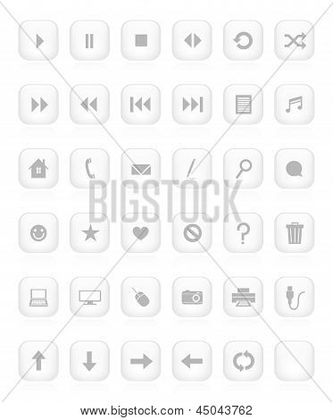 White Minimalistic Button Collection