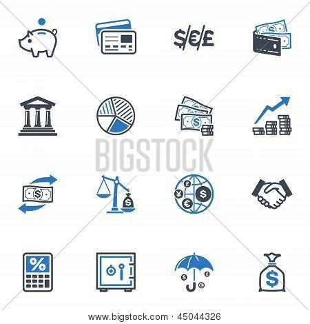 Iconos de finanzas - serie azul