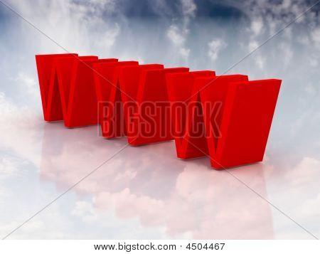 Red Www Symbol