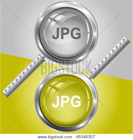 Jpg. Raster magnifying glass.