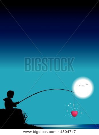 Boy Fishes For Heart.eps
