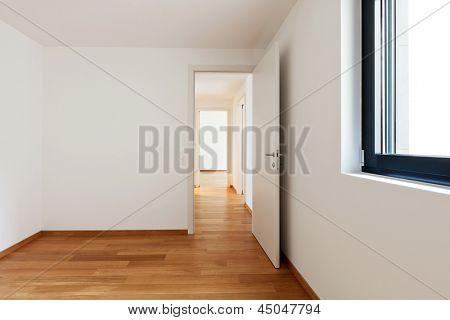 interior modern empty flat, apartment nobody inside