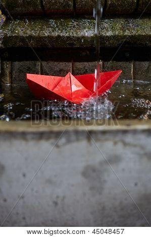 Paper Origami Boat