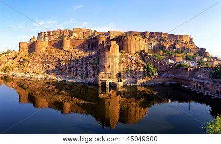 Mehrangarh Fort in Jodhpur, Rajasthan, Indien. Indischer Palast