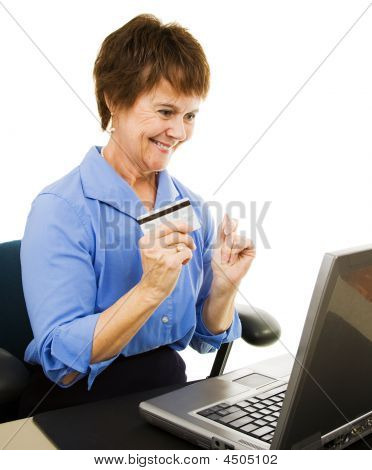 Mature Woman Internet Shopping