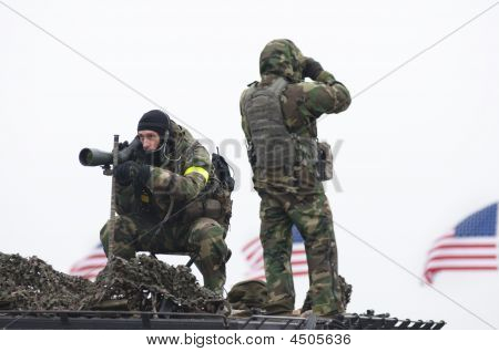 Fbi Snipers On National Mall