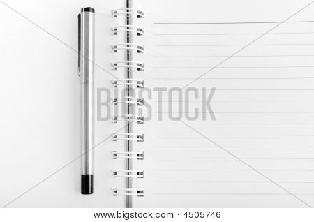 Blank Notepad With A Pen