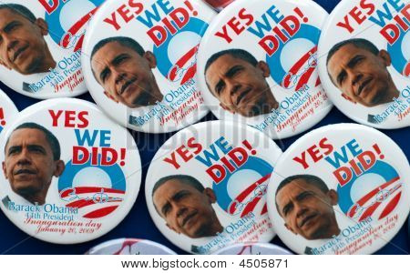 Barack Obama Pins And Buttons