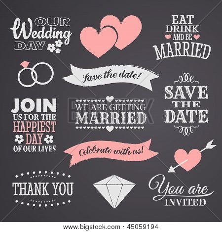 Chalkboard Wedding Design