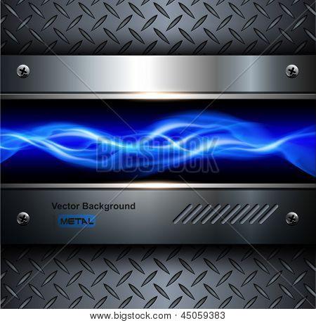 Technology background,3D steel metallic, abstract vector.