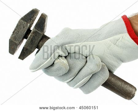 Adjustable spanner in hand