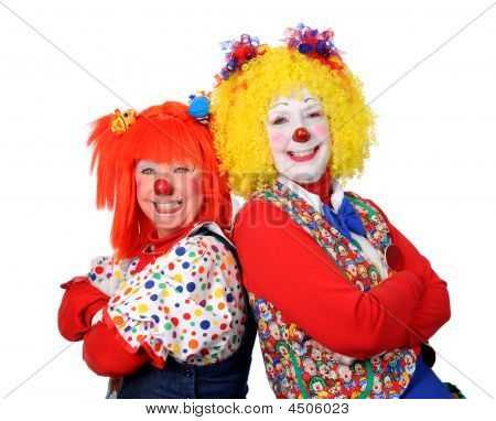 Two Clown Smiling