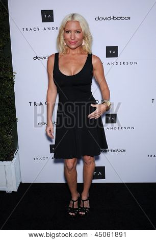 LOS ANGELES - APR 04:  Tracy Anderson arrives to the Tracy Anderson Flagship Studio Opening  on April 04, 2013 in Brentwood, CA.