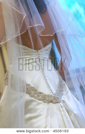 Bride's Gorgeous Wedding Gown