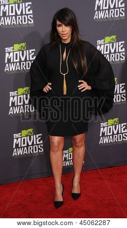 LOS ANGELES - APR 14:  Kim Kardashian arrives to the Mtv Movie Awards 2013  on April 14, 2013 in Culver City, CA.