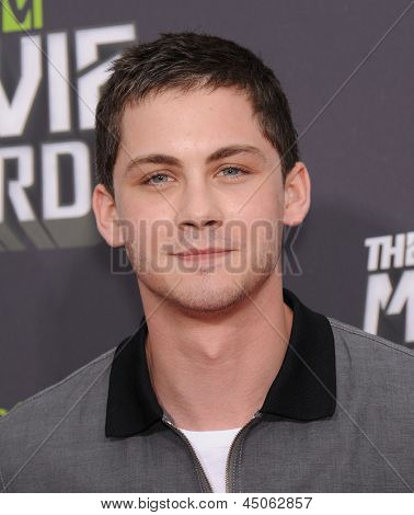 LOS ANGELES - APR 14:  Logan Lerman arrives to the Mtv Movie Awards 2013  on April 14, 2013 in Culver City, CA.