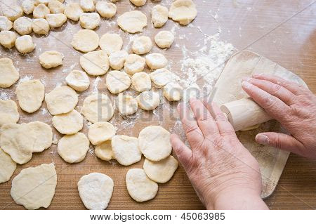 Grandma's Hands Roll Out The Dough