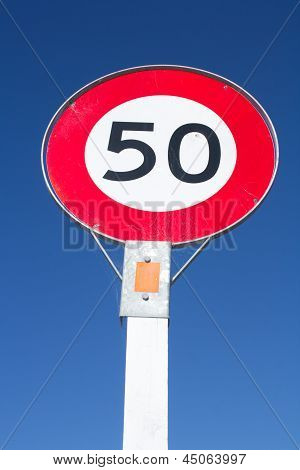 50 Kmh Speed Limit Sign