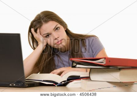 Frustrated College Student
