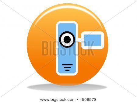 Icono de cámara de vídeo