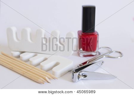 Nail polish nail clipper toe dividers and Cuticle pushers