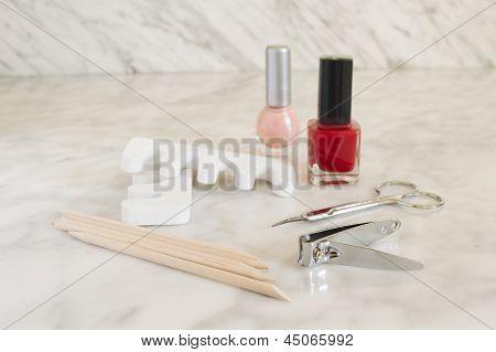 Nail polish nail clipper toe dividers and Cuticle pushers
