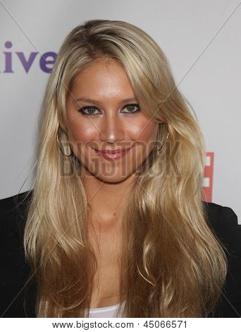 LOS ANGELES - AUG 11:  ANNA KOURNIKOVA arriving to Summer TCA Party 2011 - NBC  on August 11, 2011 in Beverly Hills, CA
