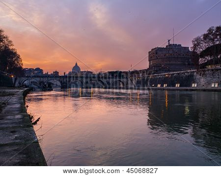Castel S. Angelo and the tevere river