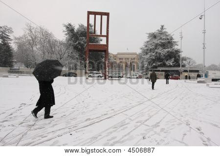 Heavy Snowfall In Geneva