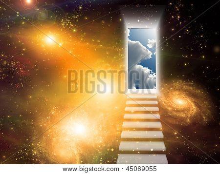 Öffnende Tür