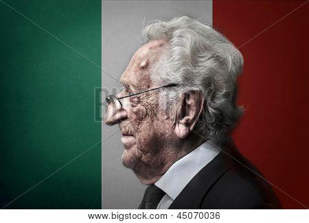 profile of elderly italian man