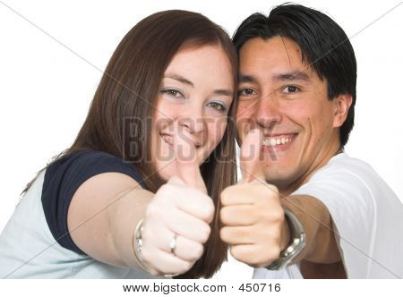 Casual Couple Thumbs Up