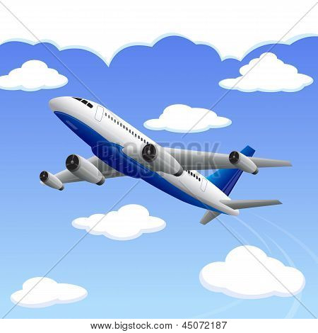 Airplane travelling to your Destination